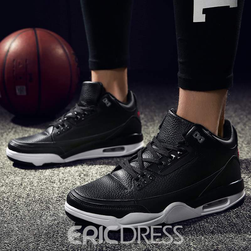 Ericdress Color Block Lace-Up High-Cut Men's Trainers