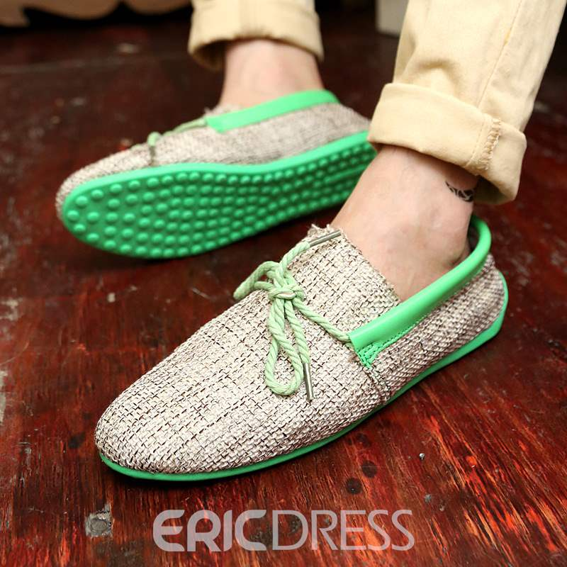 Ericdress Patchwork Plain Color Block Lace-Up Men's Shoes