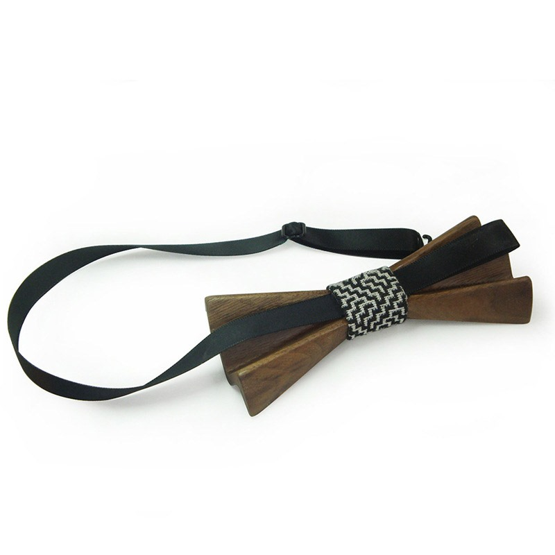 Ericdress Wave Wooden Bow Tie