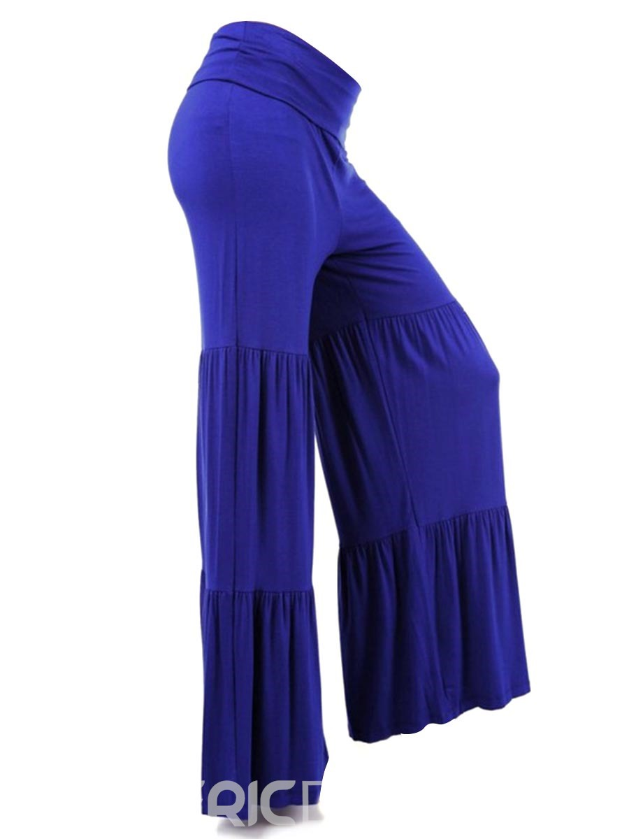 Ericdress Loose Plain Pleated Women's Casual Pants