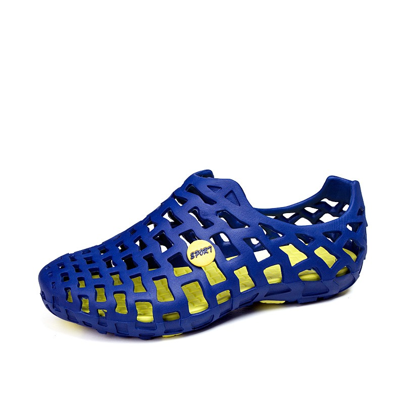Ericdress Hollow Round Toe Slip-On Men's Sandals