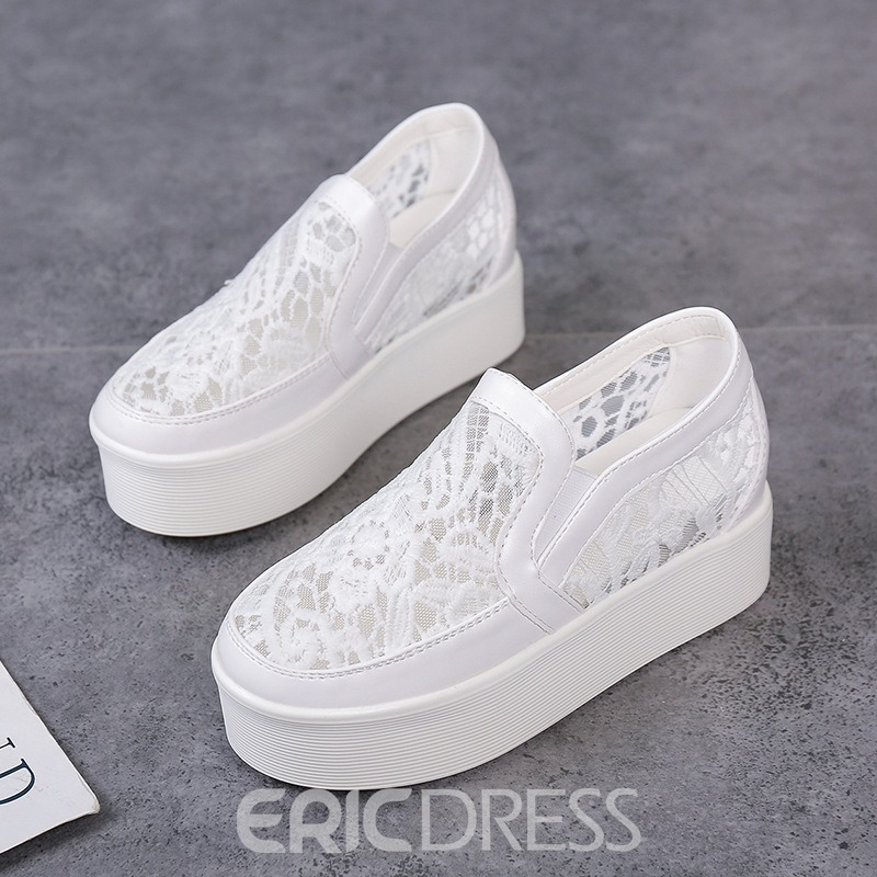 Ericdress Casual Mesh Platform Slip-On Women's Sneakers