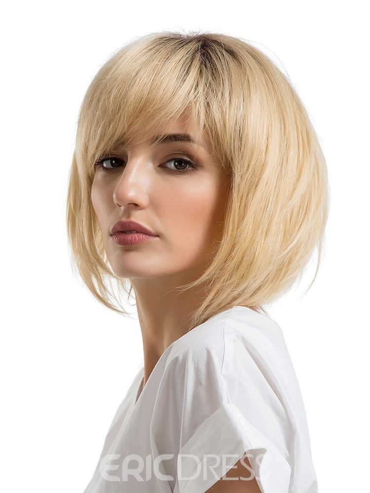 Ericdress Natrual Straight With Bang Women Capless Wig 12 Inches