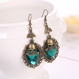 Ericdress Gothic Easter Skull Earrings