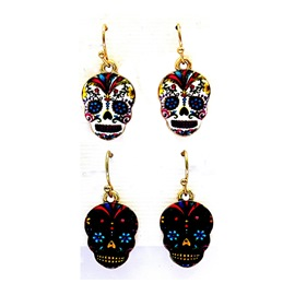 Ericdress Halloween Color Skull Earrings