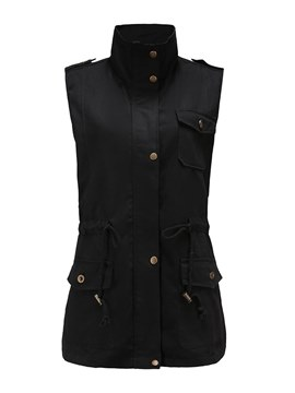 Ericdress I Type Plain Mid-Length Casual Jackets