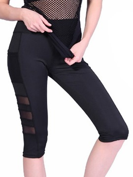 Ericdress Mesh Breathable Quick Dry Running Yoga Pants