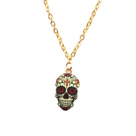 Ericdress Punk Skull Necklace
