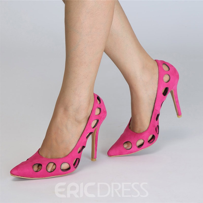 Ericdress Hollow Pointed Toe Stiletto Heel Women's Pumps