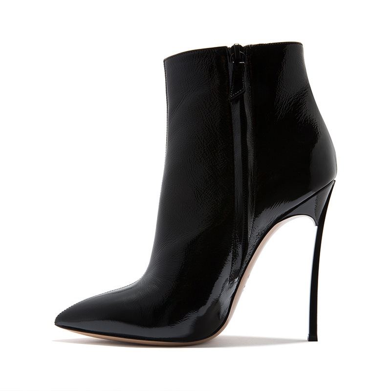 Ericdress Plain Pointed Toe Stiletto Heel Ankle Boots