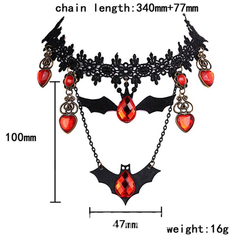 Ericdress Halloween Bat Necklace