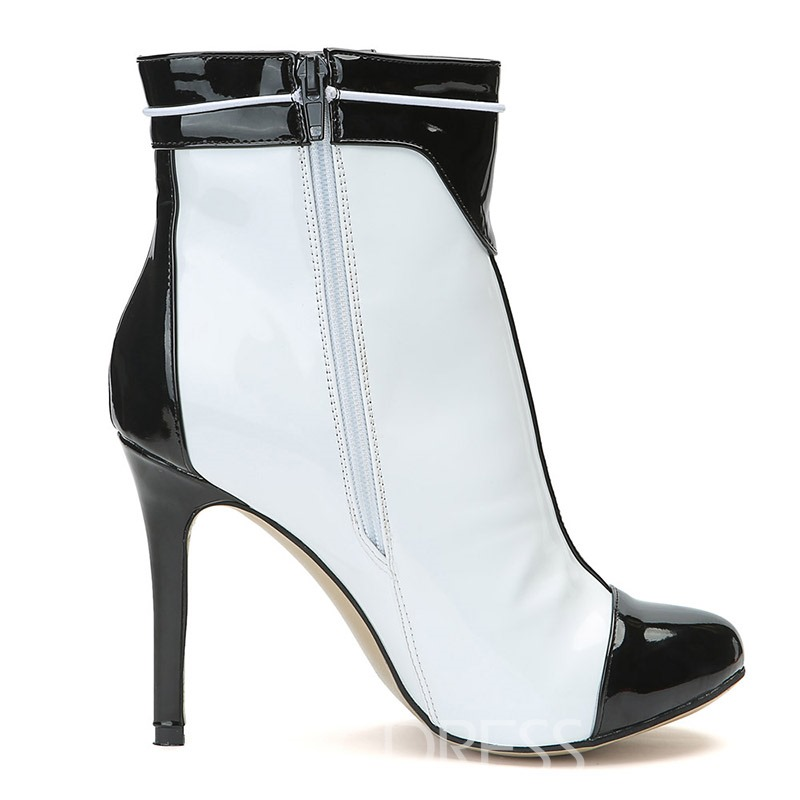 Ericdress Color Block Stiletto Heel Women's Ankle Boots