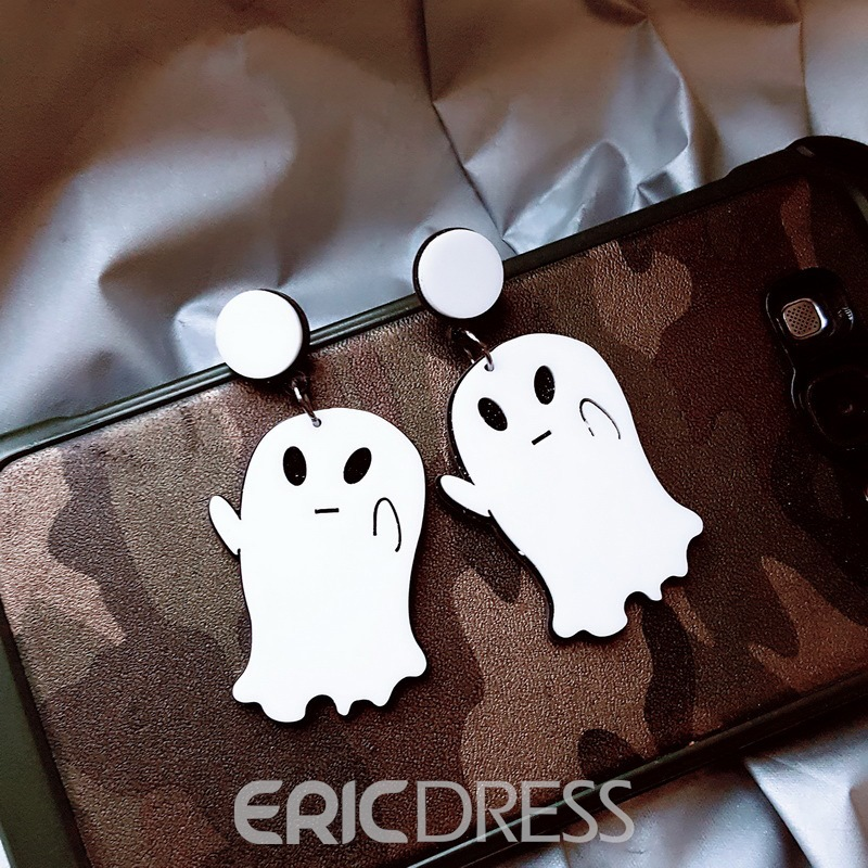 Ericdress Halloween Ghost Earrings