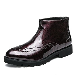 Ericdress Round Toe Front Zipper Men's Boots