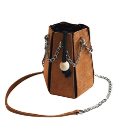 Ericdress String Barrel Shaped Chain Crossbody Bag