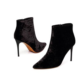 Ericdress Plain Pointed Toe Stiletto Heel Women's Boots