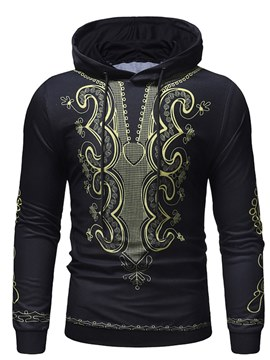 Ericdress Geometric Dashiki Hooded Print Mens Casual Hoodies