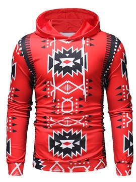 Ericdress Geometric Pattern Hooded Mens Casual Hoodies
