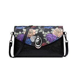 Ericdress Floral Magnetic Snap Soft Crossbody Bag