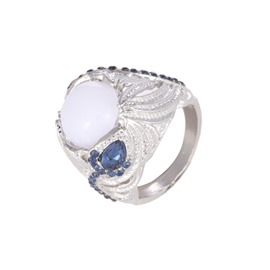 Ericdress Moonstone Diamante Wedding Ring