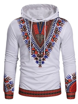 Ericdress Dashiki African Print Geometric Mens Casual Hoodies