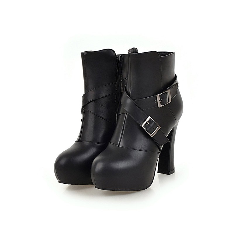 Ericdress_Round_Toe_Platform_Chunky_Heel_Womens_Ankle_Boots