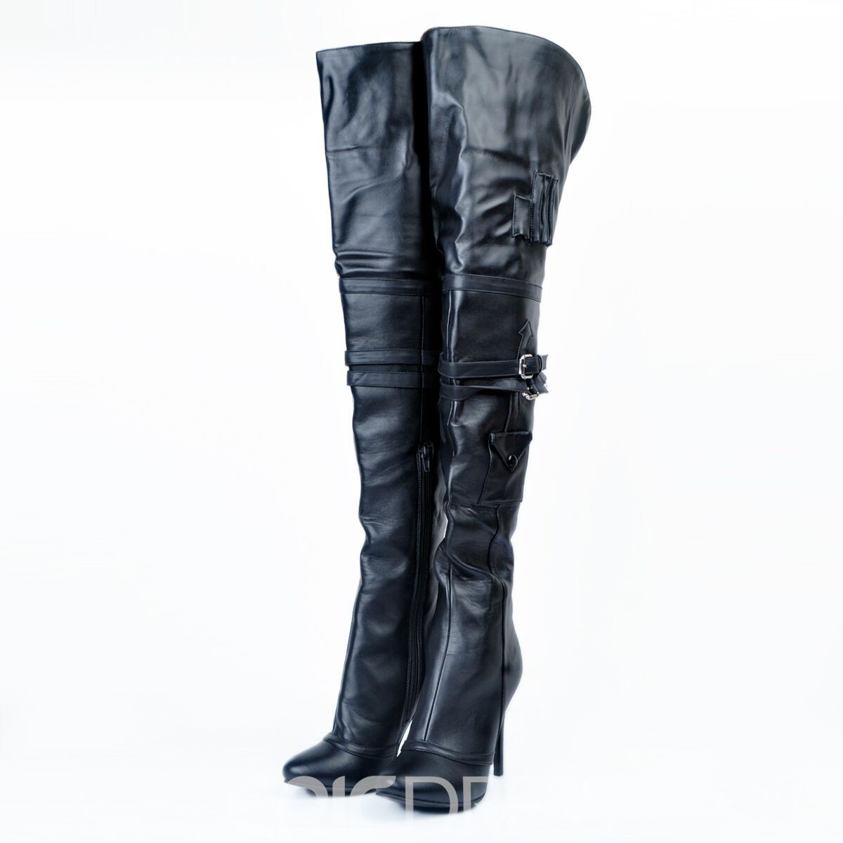 Ericdress Plian Pointed Toe Over The Knee Boots