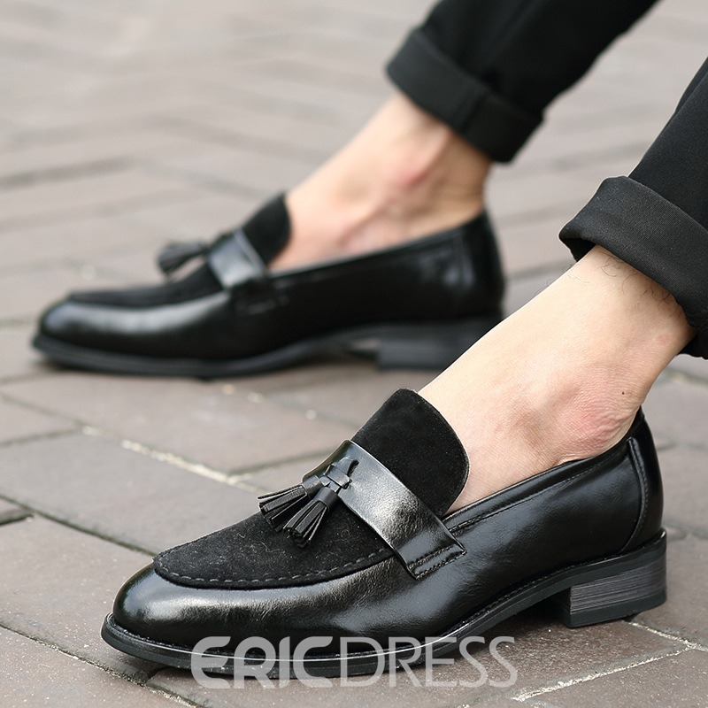 Ericdress Fringe Low-Cut Upper Slip-On Men's Oxfords