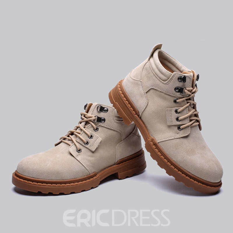 Ericdress Lace-Up Front Men's Marton Boots
