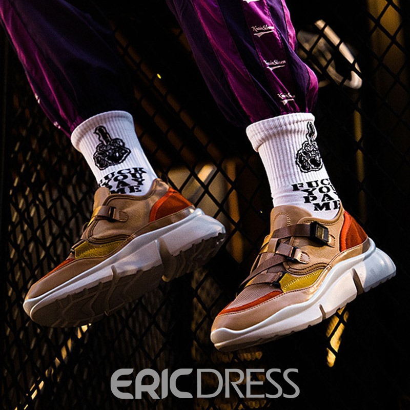 Ericdress Canvas Patchwork Low-Cut Upper Men's Sneakers
