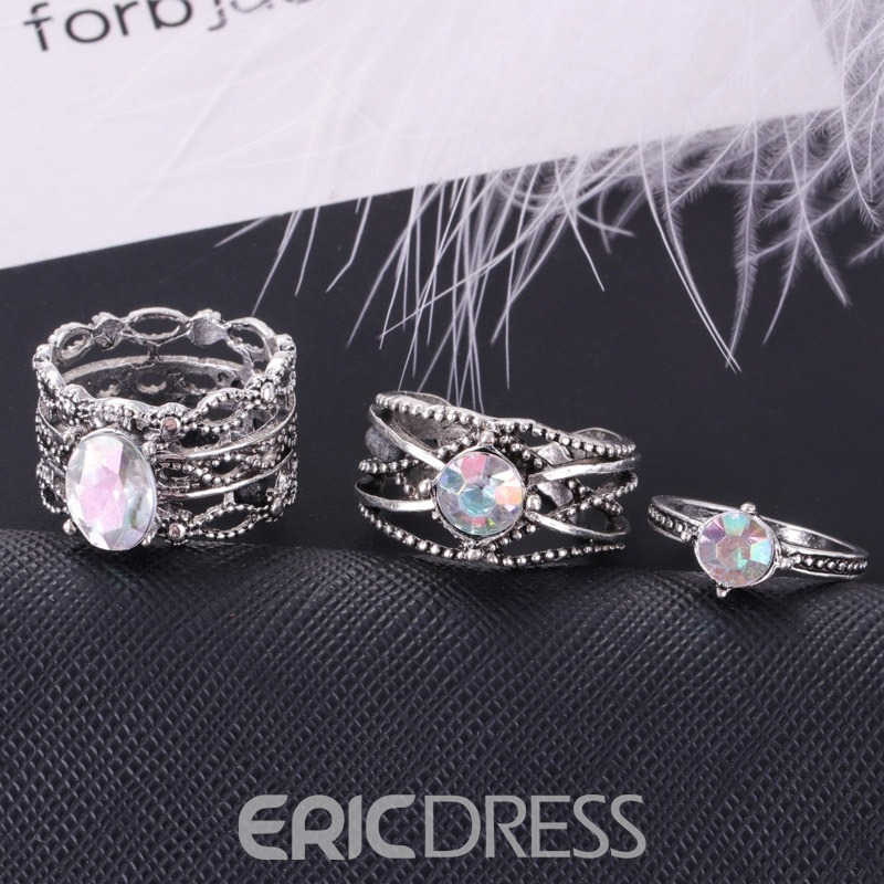 Ericdress Vintage Hollow Out Carving Ring