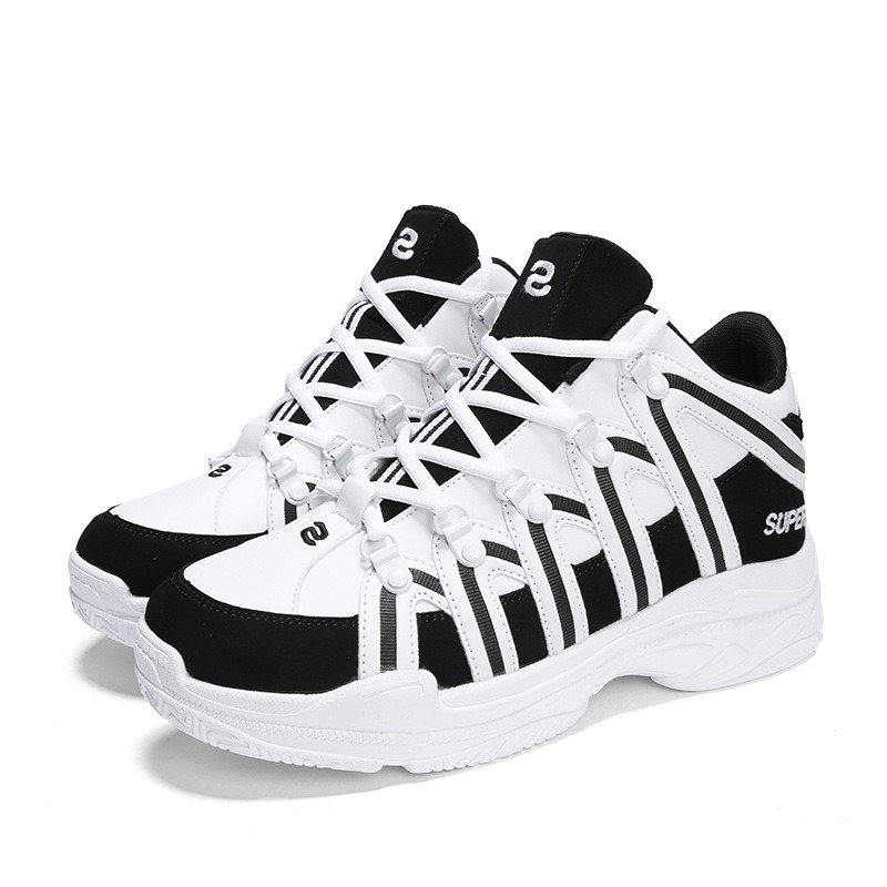 Ericdress PU Mid-Cut Upper Lace-Up Men's Sneakers