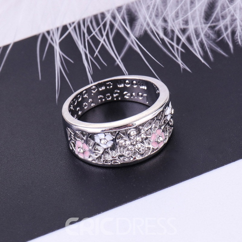 Ericdress Flower Hollow Out Ring