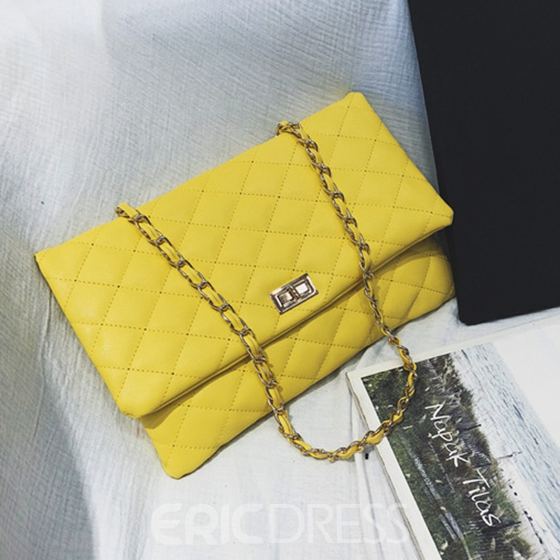Ericdress Quilted Lining Rectangle Soft Crossbody Bag