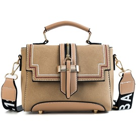 Ericdress Modern Color Block Belt Decorated Crossbody Bag
