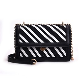 Ericdress Synthetic Leather Color Block Small Crossbody Bag