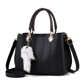 Ericdress Plain Magnetic Snap Soft Women Handbag