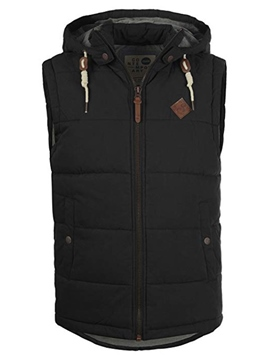 Ericdress Hooded Plain Zipper Mens Winter Vests