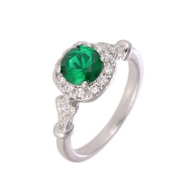 Ericdress Emerald Vintage Ring