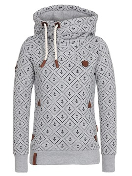 Ericdress Print Casual Turtleneck Cool Hoodie