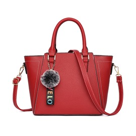 Ericdress Plain PU Zipper Wing Handbag