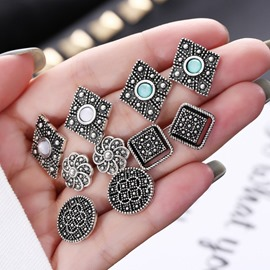 Ericdress 5 Pair Stud Vintage Earrings
