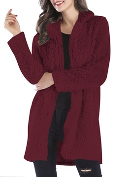 Ericdress Loose Lapel Mid-Length Lapel Coat