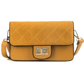 Ericdress Plain Quilted Lining Crossbody Bag