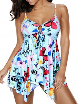 Ericdress backless Print Sexy Monokini