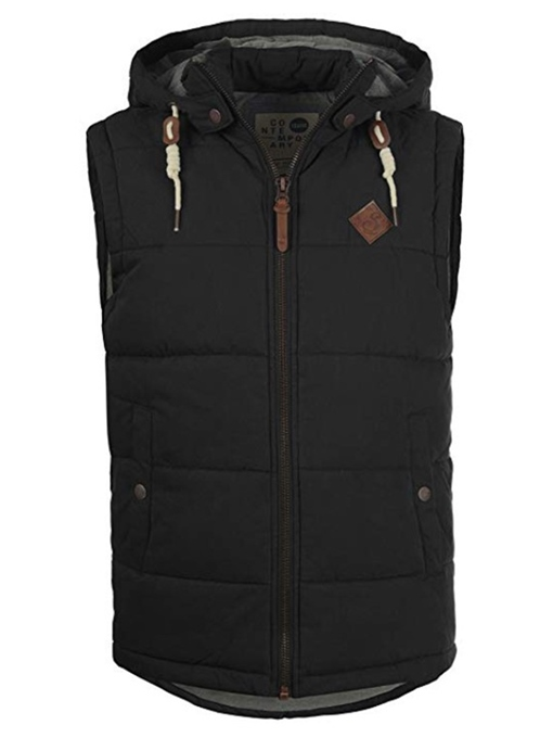 Ericdress Hooded Plain Zipper Mens Vests