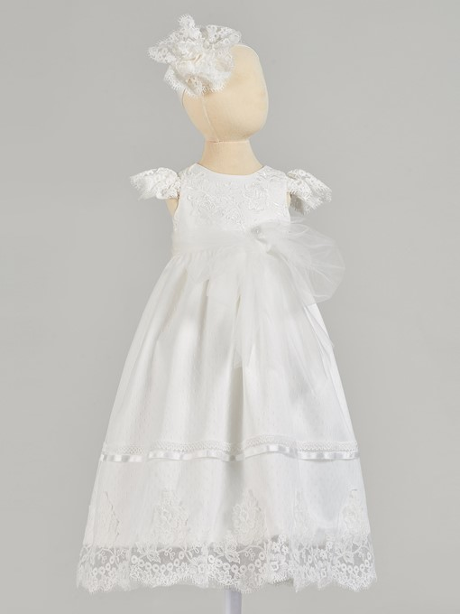 Ericdress A Line Cap Sleeve Baby Girl's Christening Gowns