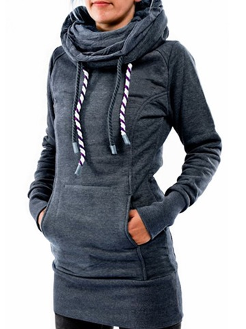 Ericdress Casual Hooded Pullover Mid-Length Cool Hoodie