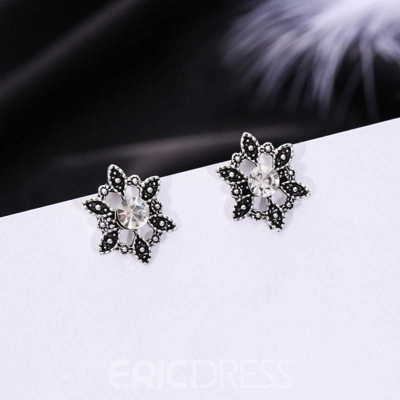 Ericdress Vintage Flower 4 Pair Stud