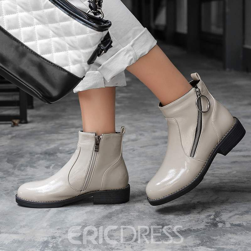 Ericdress Block Heel Side Zipper Women's Boots